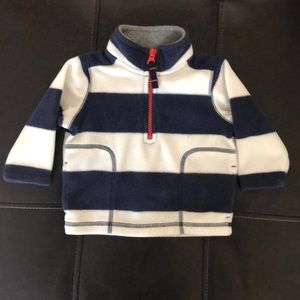 Carter's Striped 1/2 Zip Fleece Pullover - Sz 6M